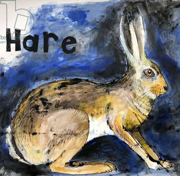 Hare,2021,(ink on paper)