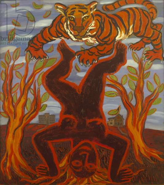 Law of the Jungle, 1989 (oil on canvas)