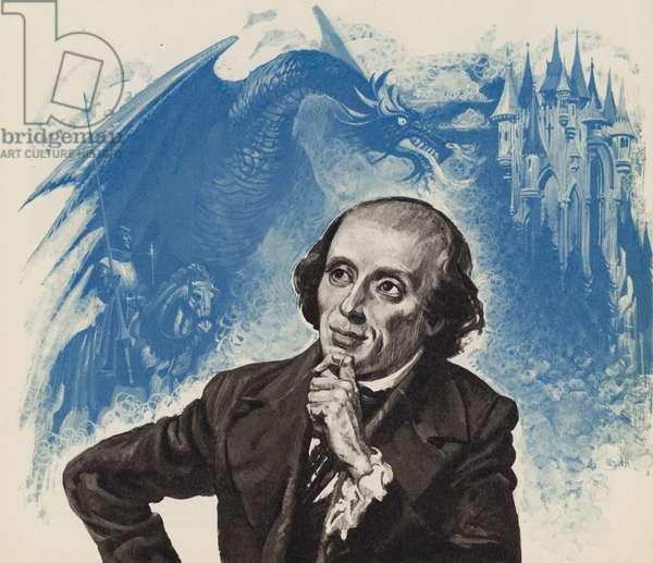 Hans Christian Andersen (litho)