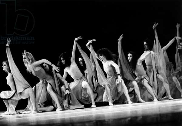 A Scene Of The Ballet 'Dionysos' By Maurice Bejart At the Palais des Congres February 18, 1986 (b/w photo)