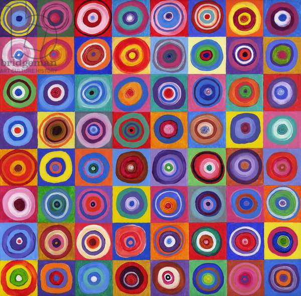 In Square Circle 64 after Kandinsky, 2012, (acrylic on canvas)