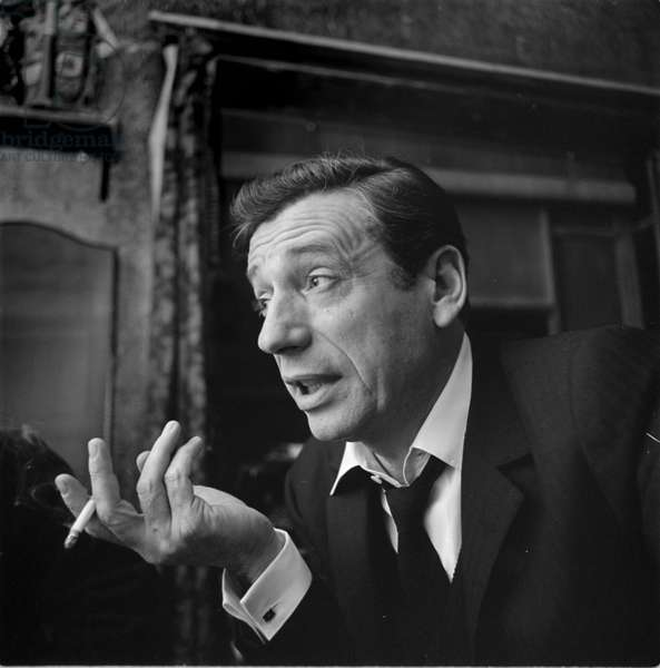 Yves Montand, The Netherlands, 1964 (b/w photo)