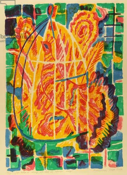 It is Not a Fire At All, It Is the Light of a Fire Bird, 1980 (colour litho)
