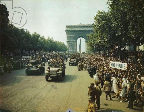 Liberation of Paris, August 26th 1944 (colour photograph)