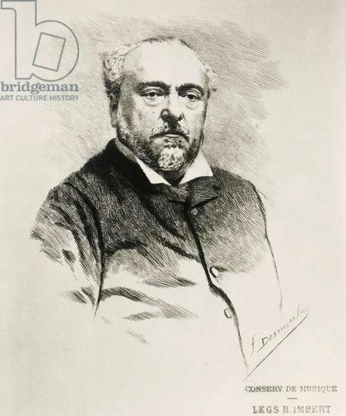 Portrait of Emmanuel Chabrier, French composer