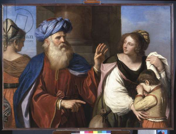 Abraham Casting out Hagar and Ishmael, 1657 (oil on canvas)