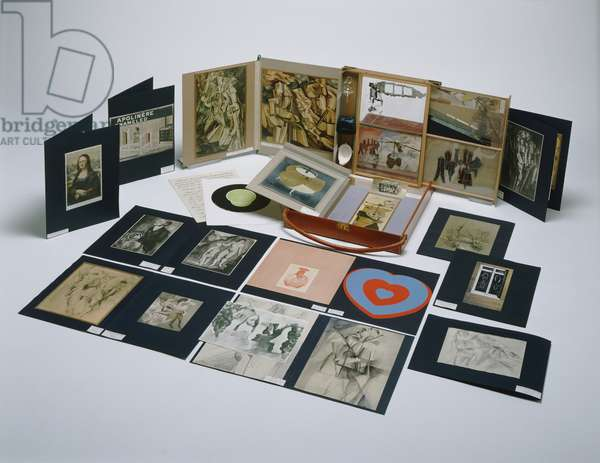 Contents of the Box in a Valise (Boîte-en-Valise) from or by Marcel Duchamp or Rrose Sélavy (de ou par Marcel Duchamp ou Rrose Sélavy) 1935-41 (mixed media)