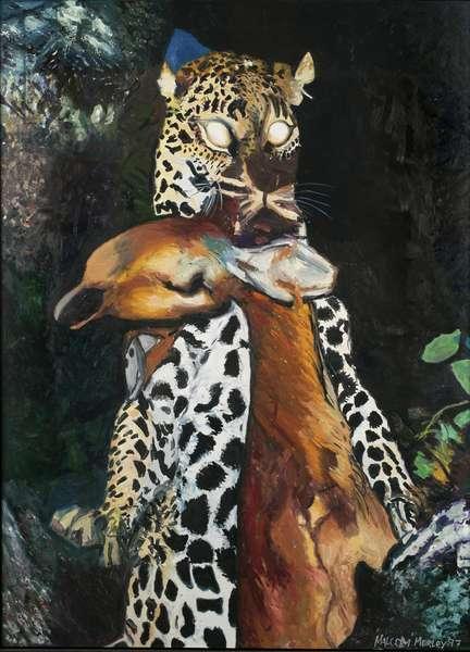 Leopard Panthera, 1997 (oil on linen)