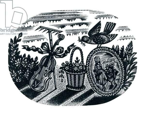 Spring, 1954 (wood engraving)