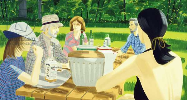 Summer Picnic, 1975 (oil on canvas)