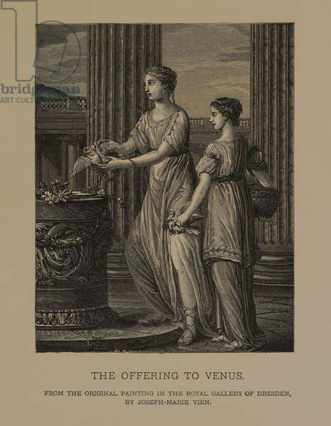 The Offering to Venus, from The Masterpieces of French Art by Louis Viardot, Published by Gravure Goupil et Cie, Paris, 1882, Gebbie & Co., Philadelphia, 1883 (woodcut engraving)