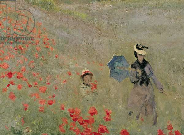 Wild Poppies, near Argenteuil (Les Coquelicots: environs d'Argenteuil), 1873 (oil on canvas) (detail of 7998)