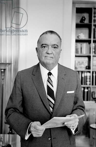 JOHN EDGAR HOOVER (1895-1972). American lawyer and public official. Photographed by Marion S. Trikosko, 1961.