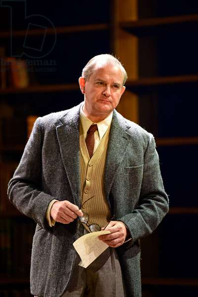 Hugh Bonneville playing CS Lewis in Shadowlands by William Nicholson at Chichester Festival Theatre, West Sussex, UK, 2019 (photo)