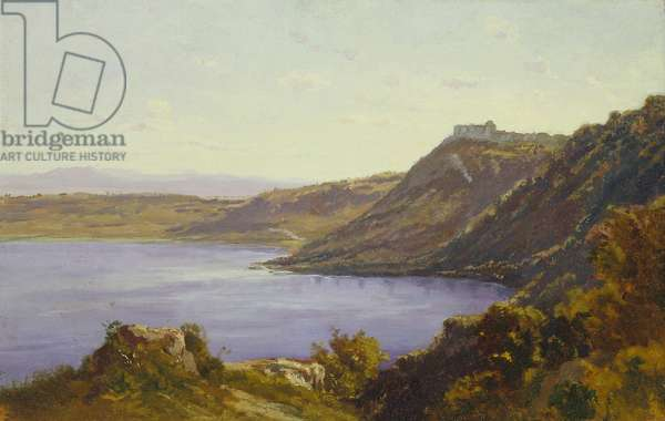 The Albano Lake (oil on canvas)