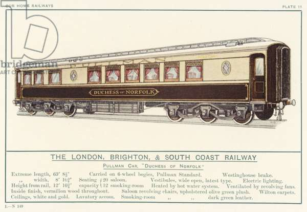 The London, Brighton, And South Coast Railway, Pullman Car,