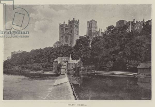 Durham Cathedral (b/w photo)