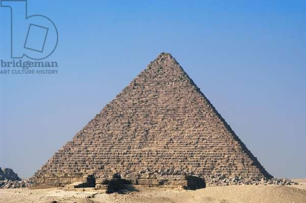 The Great Pyramid of Giza called the Pyramid of Menkaure, Egypt (photo)