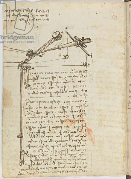 Birds Flight Code, c. 1505-06, paper manuscript, cc. 18, sheet 16 verso