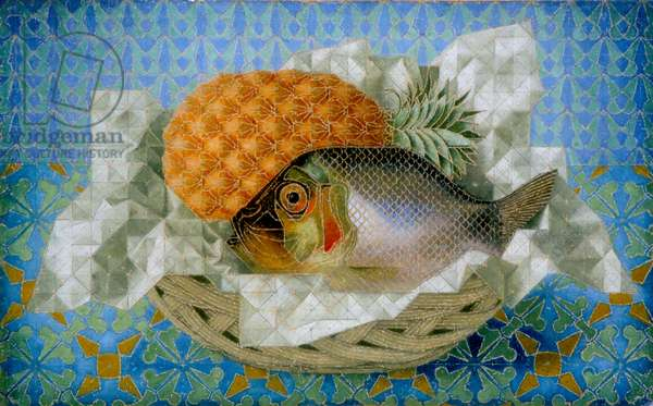 Fish and Pineapple, 1936 (oil on canvas)