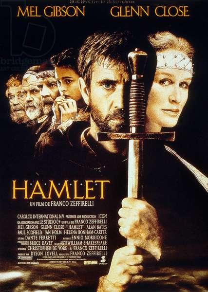 Hamlet de FrancoZeffirelli avec Mel Gibson (Hamlet) et Glenn Close (Gertrude) 1991 (d'apres William Shakespeare)