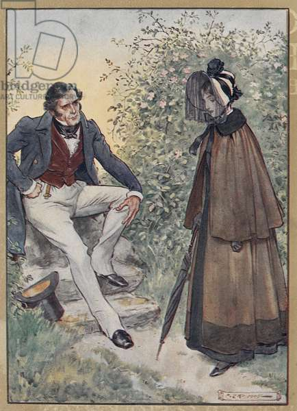 Jane Eyre and Mr. Rochester at Thornfield Hall