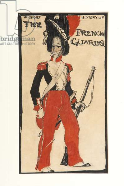 A Short History of the French Guards, 1917 (w/c on paper)