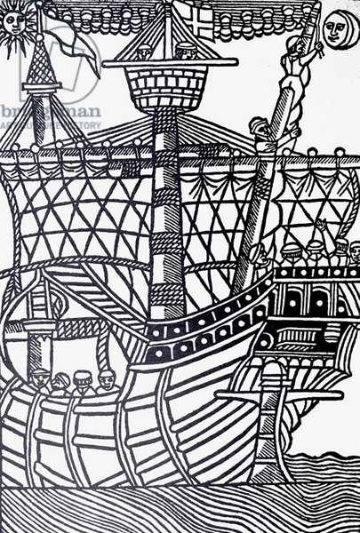 Christopher Columbus landing in the Americas