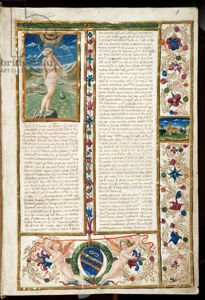 Page of a book by Alfonso Vargas, 15th century (miniature)