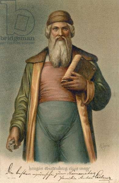 Johannes Gutenberg (chromolitho)