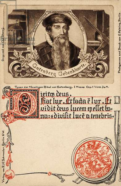 Gutenberg portrait - German