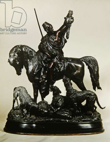 Kabyle returning from the Hunt, c.1870 (bronze) (see 474330 for reverse)