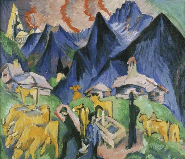 Alpleben, Triptych; Alpleben, Triptychon, 1918 (oil on canvas)