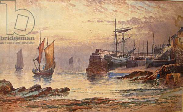 Old Quay, Newlyn, 1887 (w/c on paper)