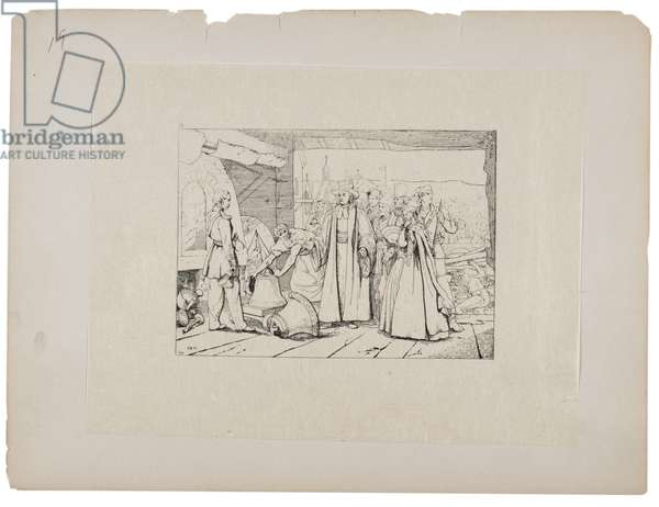 Offering of bells to be cast into cannon, c.1880-90 (etching)