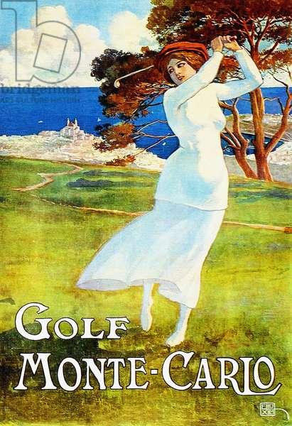 Vintage travel poster for Monte Carlo, Monaco, c.1930 (colour litho)