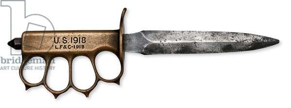 Fighting Knife, 1918 (brass & steel)