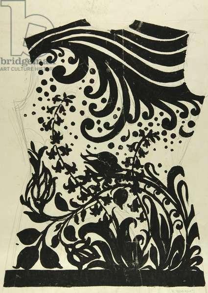 Dress Design, 1960s (tempera on paper)