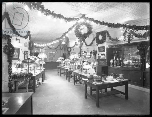 Interior view, front to rear, of the United Electric Light & Power Company, W. 138th Street and Hamilton Place, New York City, December 17, 1914 (b/w photo)