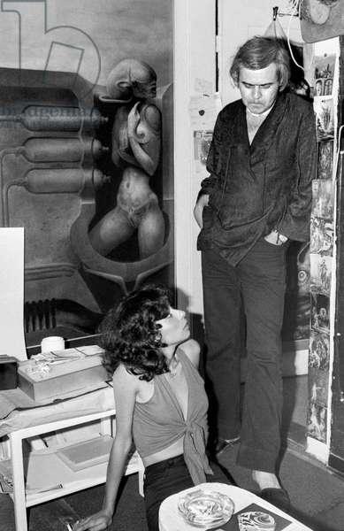 Switzerland Art Hr Giger, 1979 (b/w photo)