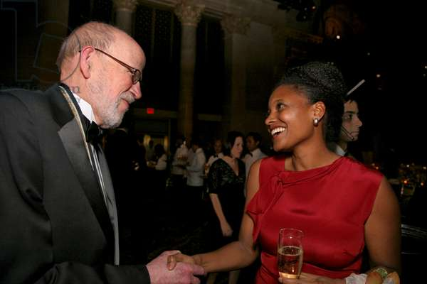 David Ferry and poetry judge Tracy K. Smith