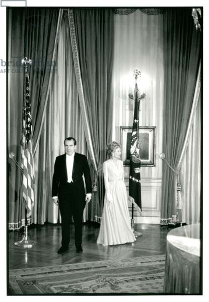 Formal Reception in the White House, February 1971 (b/w photo)