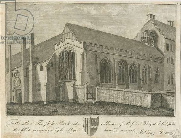 Lichfield - St. John's Hospital and Chapel: engraving, nd [1762-1798] (print)