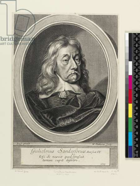 Sir William Sanderson, 1658 (engraving)