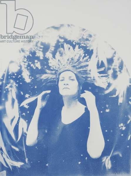 Lena, 2014, (cyanotype on paper)