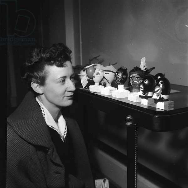 "Woman at the exhibition ""The Egg And Us"", (Photography) 1952"