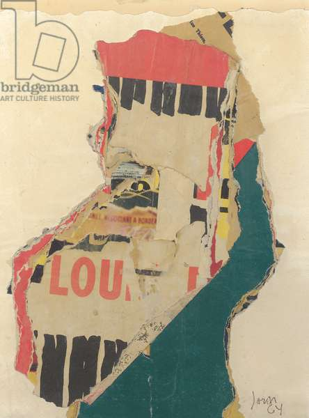 Lille Lou, 1964 (collage on paper)