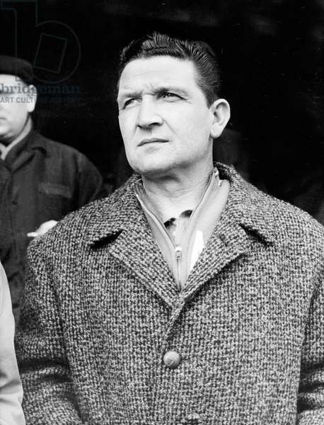 Albert Batteux Coach Trainer of French Football Team October 08, 1966 (b/w photo)