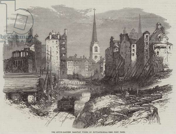 The South-Eastern Railway Works on Dowgate-Hill (engraving)