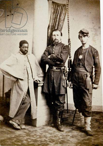 Union Army, Officer and Sergeant with Black Servant